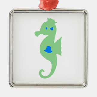 Green and Blue Seahorse Christmas Tree Ornaments