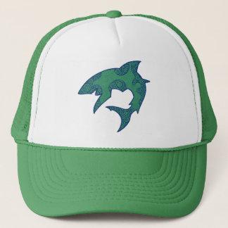 Green and Blue Shark Trucker Hat