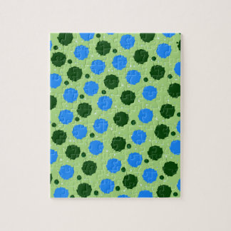 Green and Blue Splash Dots Puzzles