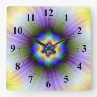 Green and Blue Star Clock