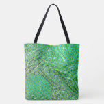 Green and blue stock market, traces under green tote bag