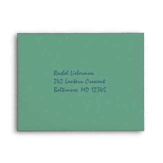Green and Blue Striped A2 RSVP Envelope envelope