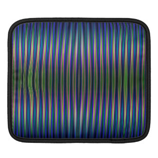 Green and blue striped pattern iPad sleeve