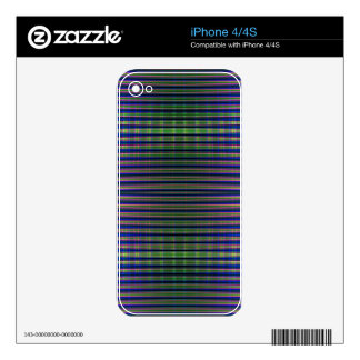 Green and blue striped pattern skin for iPhone 4S