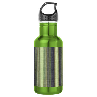 Green and Blue Striped Water Bottle