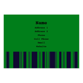 Green and blue stripes business card
