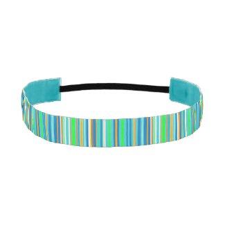 Green and Blue Stripes Elastic Headbands