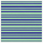 [ Thumbnail: Green and Blue Stripes Fabric ]