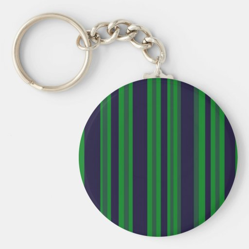 green and blue stripes key chains
