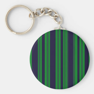 green and blue stripes basic round button keychain