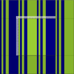 [ Thumbnail: Green and Blue Stripes Pattern Fabric ]