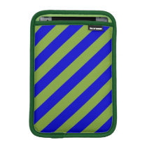 Green and Blue Stripes Pattern Sleeve For iPad Mini