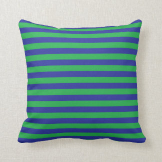 Green and Blue Stripes Pillow