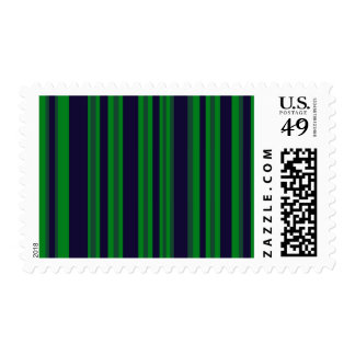 green and blue stripes postage