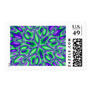 Green and Blue Swirls Postage