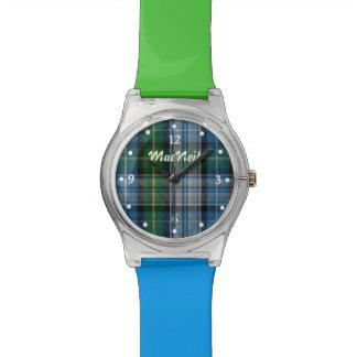 Green and Blue Tartan Plaid Custom Watch