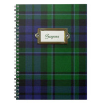 Green and Blue Tartan Plaid Notebook