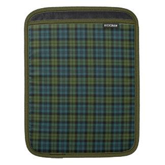 Green and Blue Tartan Sleeve For iPads