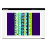 """Green and blue tribal pattern skins for 15"""" laptops"""