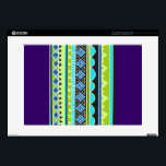 "Green and blue tribal pattern skins for 15&quot; laptops<br><div class=""desc"">mexican,  aztec,  native,  &quot;native american&quot;,  african,  africa,  ethnic,  ethnicity,  culture,  cultural,  lined,  lines,  stripes,  striped,  repeating,  pattern,  patterned,  patterns,  weave,  woven, tapestry,  rug,  peru,  peruvian,  &quot;south western&quot;,  &quot;south american&quot;,  &quot;south america&quot;,  southwestern,  print,  printed,  sweater,  geometric,  shapes,  bright, neon,  green,  blue,  rave,  snakeskin,  eighties,  80s,  90s,  ninties, </div>"