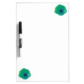 Green and Blue Tulip Memo Board