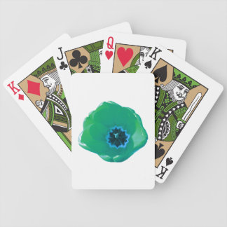 Green and Blue Tulip Playing Cards