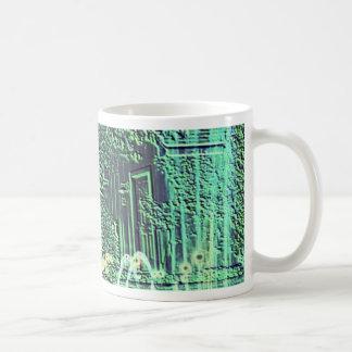Green and Blue Water Fountains Overlay Coffee Mug