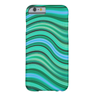 Green and blue wavy stripes pattern barely there iPhone 6 case