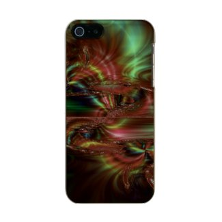 Green and Brown Abstract Incipio Feather® Shine iPhone 5 Case