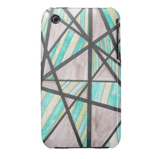 Green and Brown Angles iPhone 3 Case