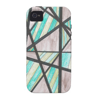 Green and Brown Angles iPhone 4 Case