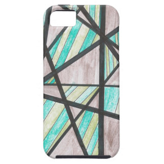 Green and Brown Angles iPhone 5 Case