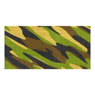 Green and Brown Army Camouflage Photo Card