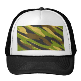 Green and Brown Army Camouflage Trucker Hat