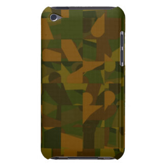 Green and Brown Camo, Abstract Pattern. Barely There iPod Covers