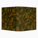 Green and Brown Camo, Abstract Pattern. 3 Ring Binder