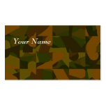 Green and Brown Camo, Abstract Pattern. Double-Sided Standard Business Cards (Pack Of 100)