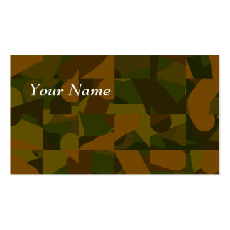 Green and Brown Camo, Abstract Pattern. Business Cards