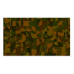 Green and Brown Camo, Abstract Pattern. Business Card Templates