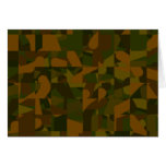Green and Brown Camo, Abstract Pattern. Greeting Card