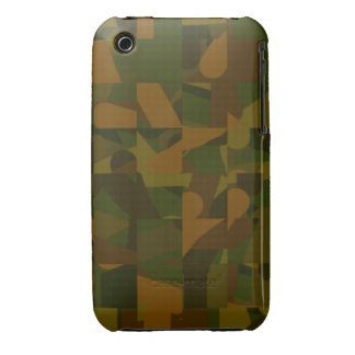 Green and Brown Camo, Abstract Pattern. Case-Mate iPhone 3 Cases