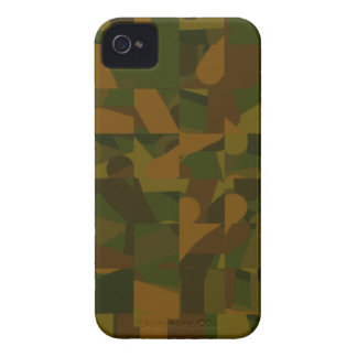 Green and Brown Camo, Abstract Pattern. iPhone 4 Case