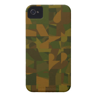 Green and Brown Camo, Abstract Pattern. iPhone 4 Cover