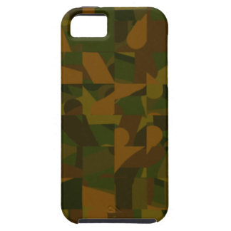 Green and Brown Camo, Abstract Pattern. iPhone 5 Cases
