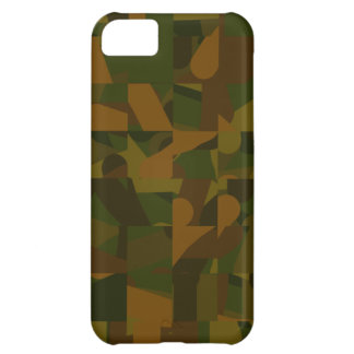 Green and Brown Camo, Abstract Pattern. iPhone 5C Cover