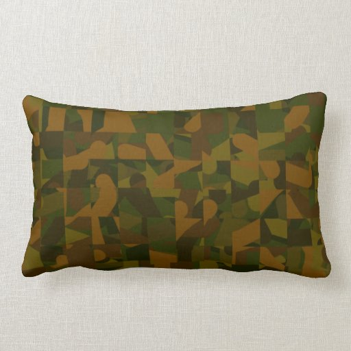 Green and Brown Camo, Abstract Pattern. Throw Pillow