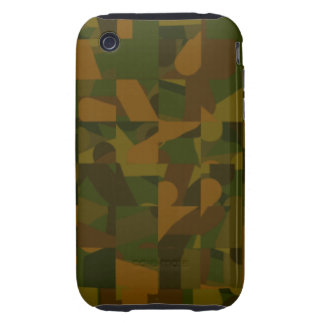 Green and Brown Camo, Abstract Pattern. Tough iPhone 3 Covers