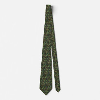 Green and brown camo tie