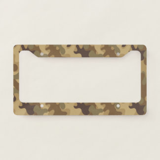 Green and Brown Camouflage. Camo your License Plate Frame