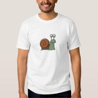 Green and Brown Cartoon Snail Shirt